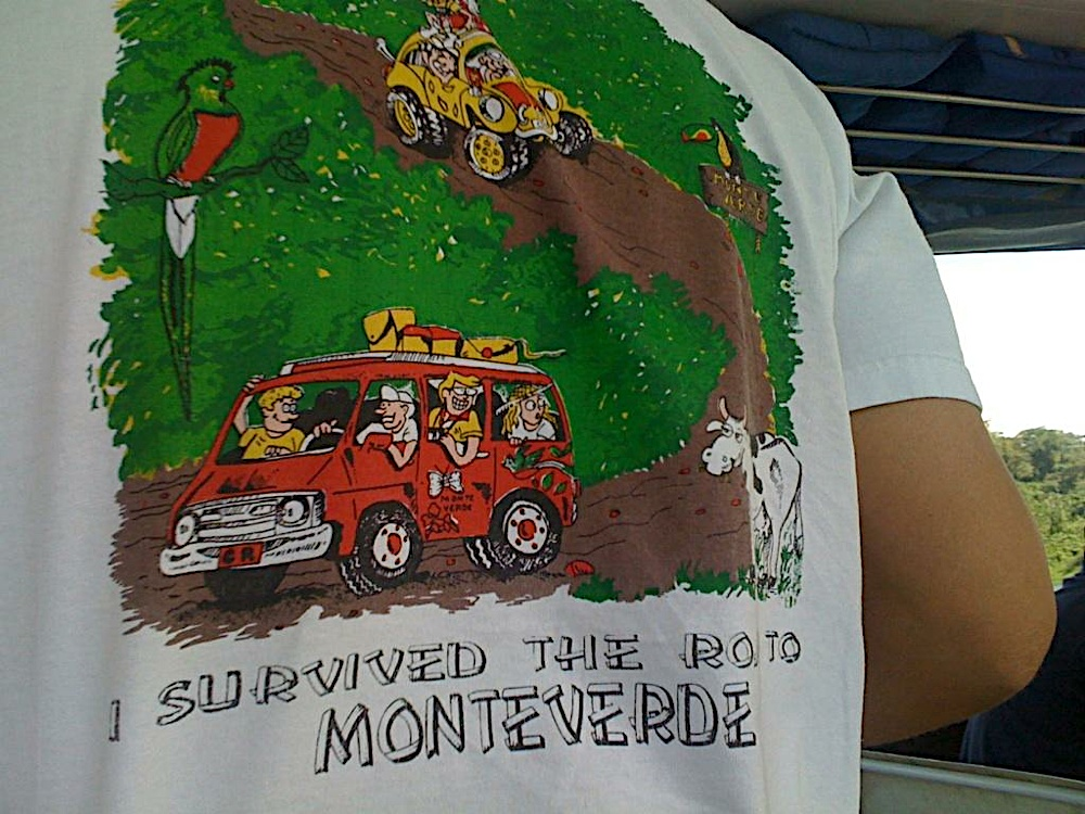 Road from Monteverde to La Fortuna