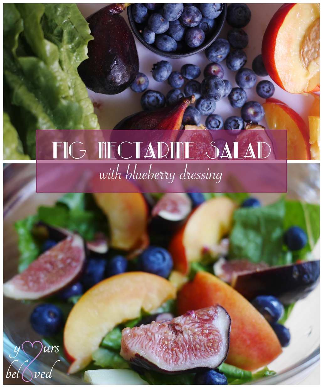 Day 25: Fig Nectarine Salad with Blueberry Dressing