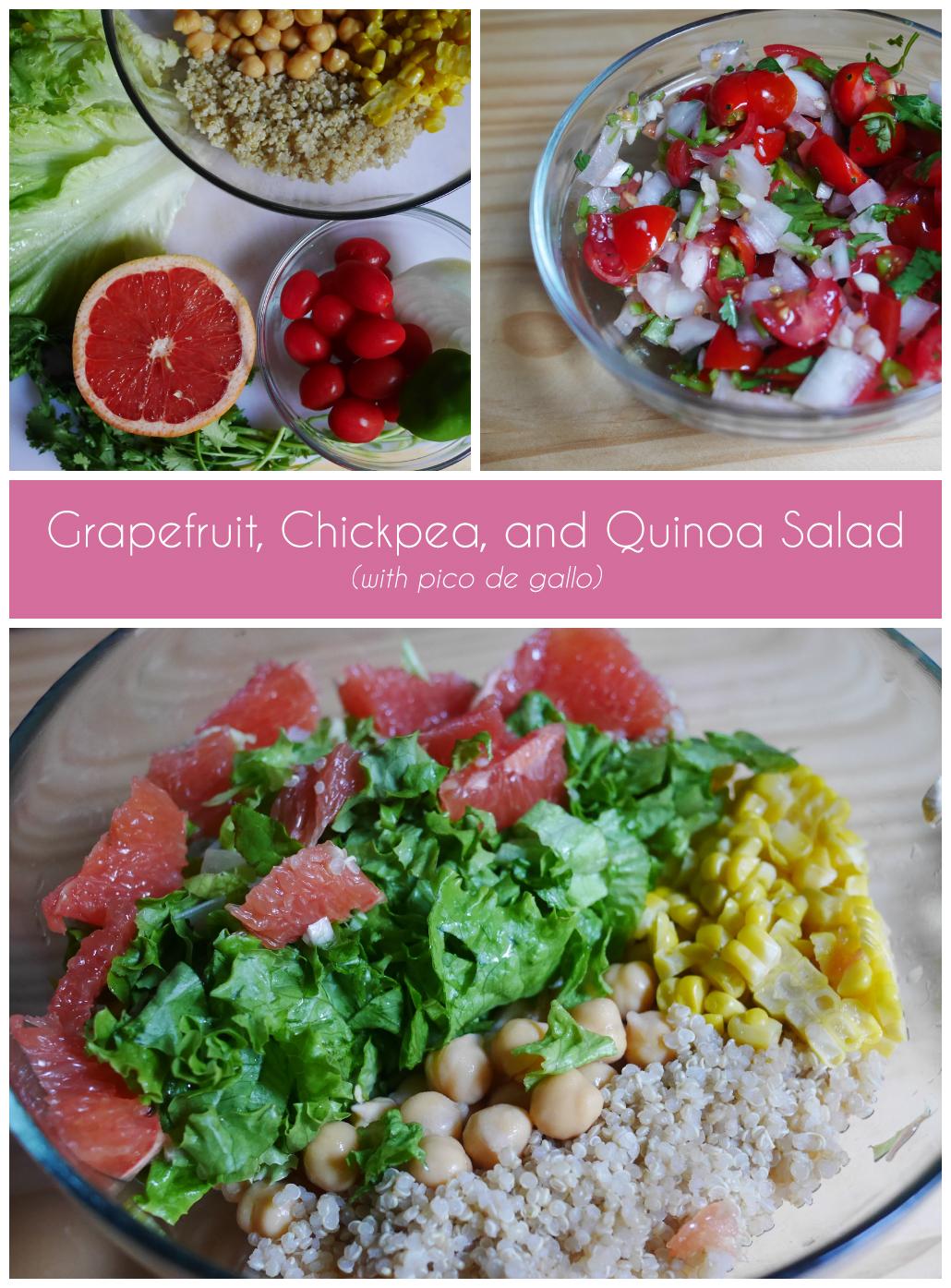 Grapefruit Chickpea Quinoa Salad