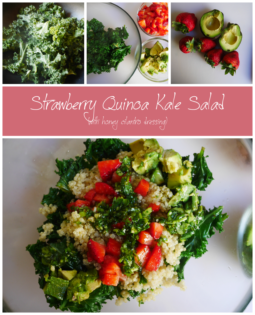 Strawberry Quinoa Kale Salad