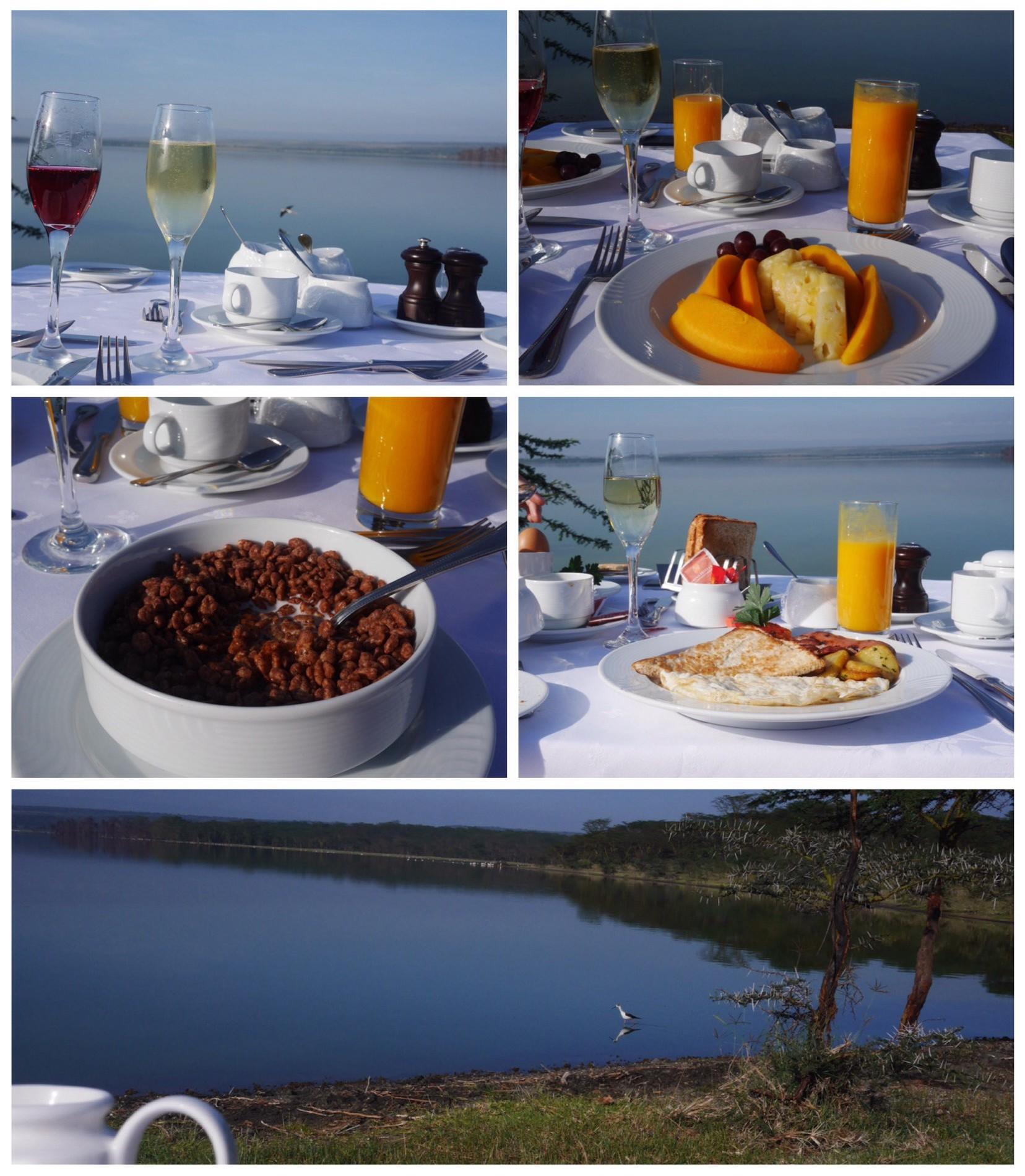 Lakeside Breakfast at Lake Elmenteita Serena Lodge