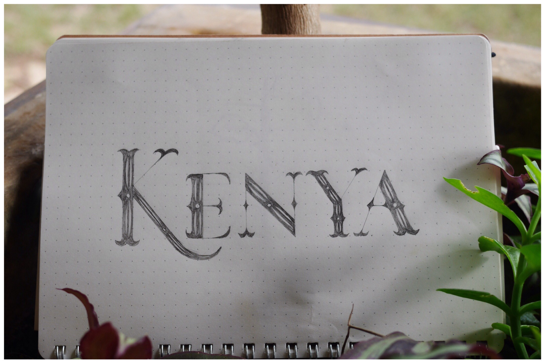 Kenya lettering