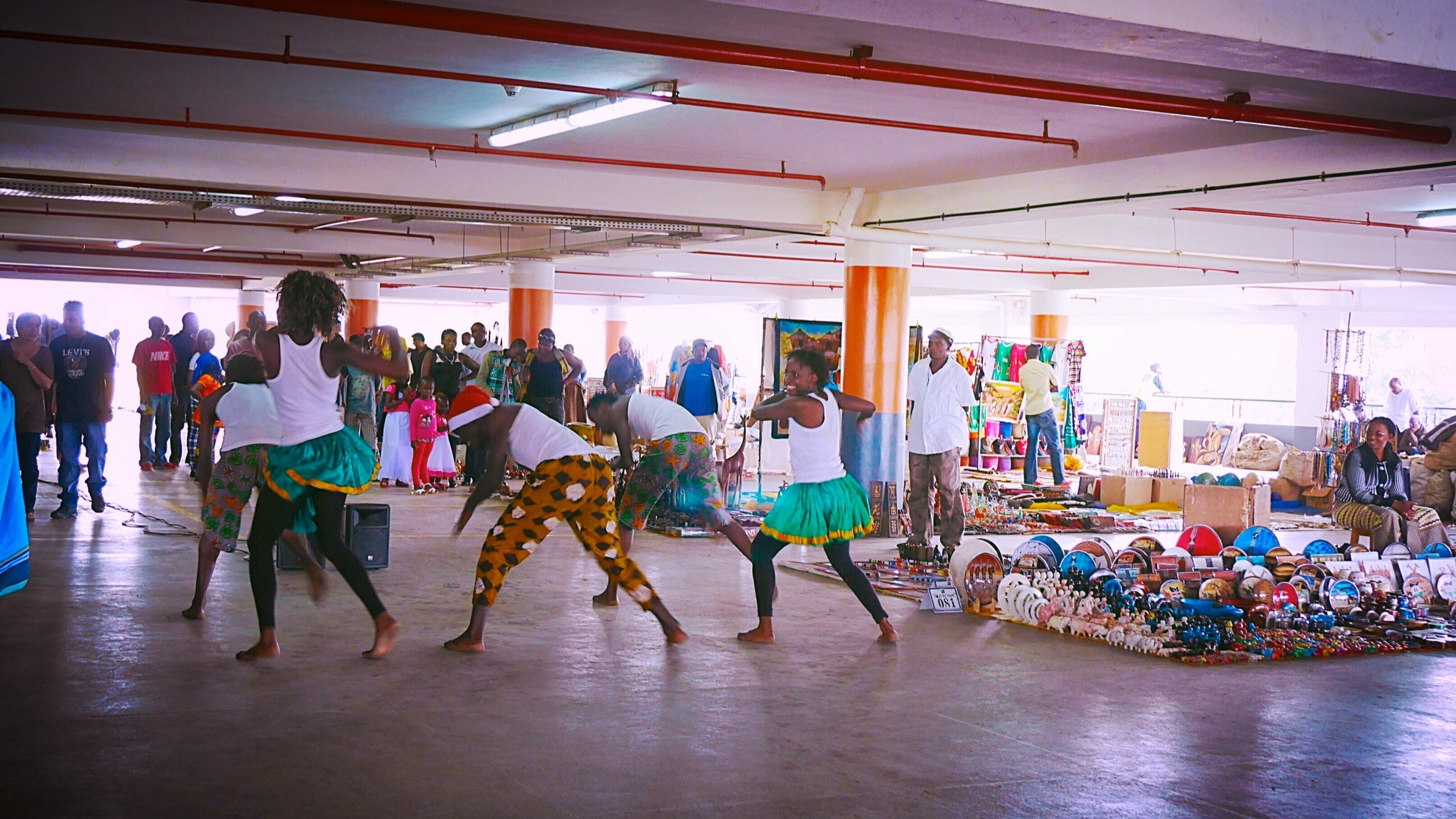 Masai market at The Junction Mall roof in Nairobi, Kenya